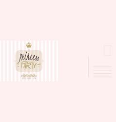 party invitation card princess birthday vector image