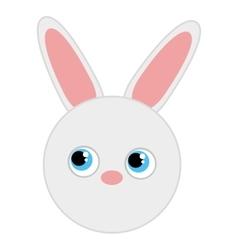 rabbit cute animal character farm vector image