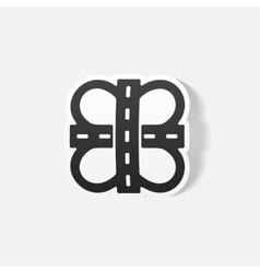 Realistic design element road vector