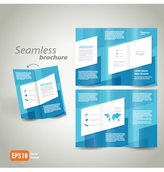 seamless brochure design template vector image