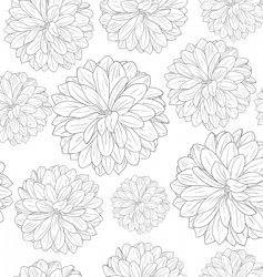 seamless wallpaper with beautiful flowers vector image