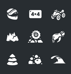 set of atv icons vector image