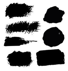 set of ink spots vector image