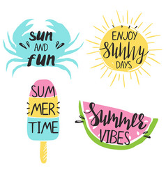 set summer emblems vector image