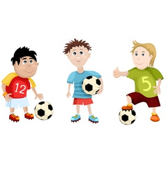 soccer cartoons vector image