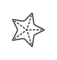 starfish icon line sea star symbol isolate vector image