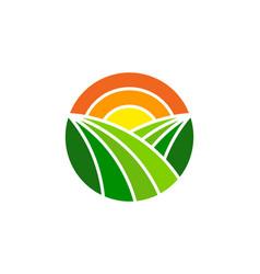 Sunbeam farm logo icon design vector
