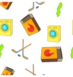Sweden elements pattern cartoon style vector
