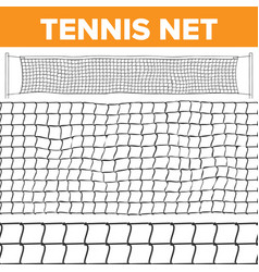tennis net pattern volleyball texture vector image