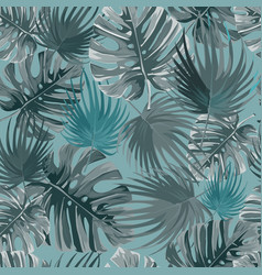 tropical palm leaves jungle leaves pattern vector image