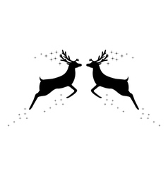 Two reindeer with stars vector image