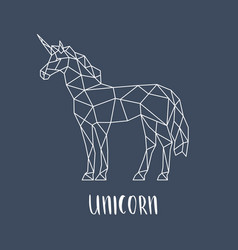 unicorn in a geometric style vector image