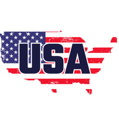 usa on white background vector image