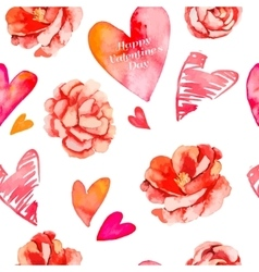Valentines day backgroundSeamless pattern of vector