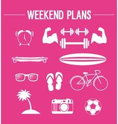 Weekend plans vector