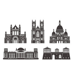 western europe isolated european buildings vector image