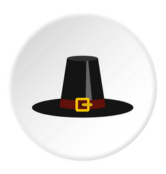 Witch hat icon circle vector