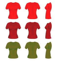 Women t-shirt templates vector