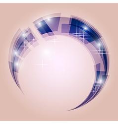 Abstract swirl energy circle vector image