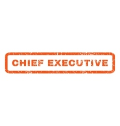Chief executive rubber stamp vector