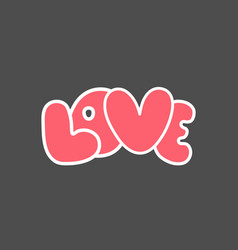 love hand drawn lettering hand drawn elements vector image vector image