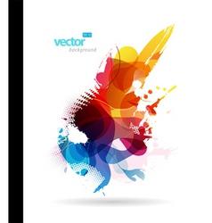 colorful splash vector image vector image