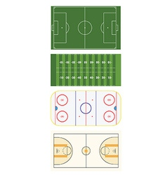 Four sports fields vector image vector image