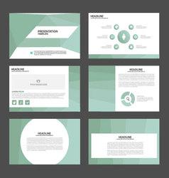 Light Green presentation templates Infographic set vector image