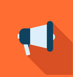 megaphone icon in flat style vector image