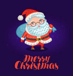 merry christmas greeting card or xmas banner vector image vector image