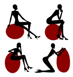 model women silhouette vector image vector image