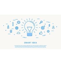 smart idea thin line design vector image vector image
