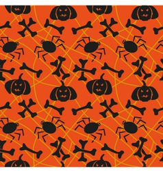 Spider web with bones vector image vector image