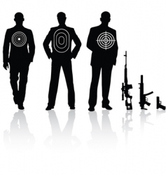 target sniper rifle vector image vector image