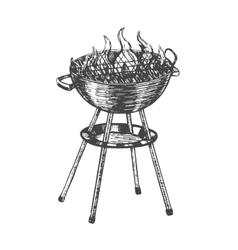 Barbecue hand draw sketch vector