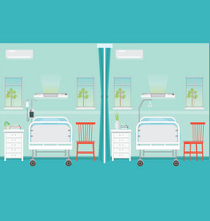 hospital ward room interior with beds vector image