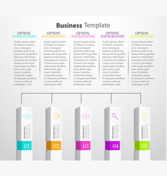 infographic columns vector image vector image