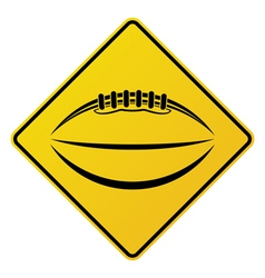 American Football Road Sign vector image vector image