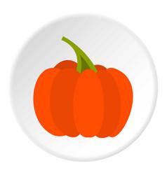 autumn pumpkin icon circle vector image