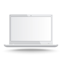 Realistic laptop vector image