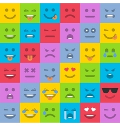 Set of colored emoticons vector image vector image