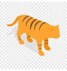 tiger isometric icon vector image