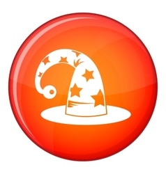 Wizards hat icon flat style vector image