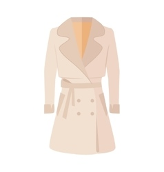 Women double-breasted jacket isolated on white vector