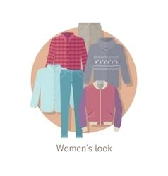 Women s look concept in flat design vector