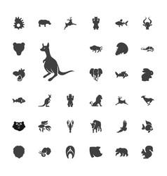 33 wildlife icons vector