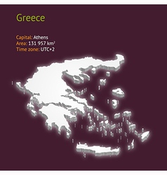 3d map of Greece vector