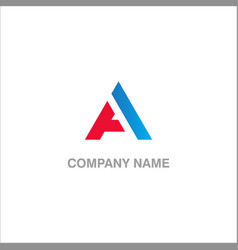 a initial company logo vector image