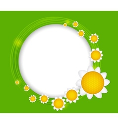 Abstract background with frame and flowers vector