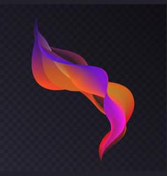 abstract luminous wavy color smoke shape vector image